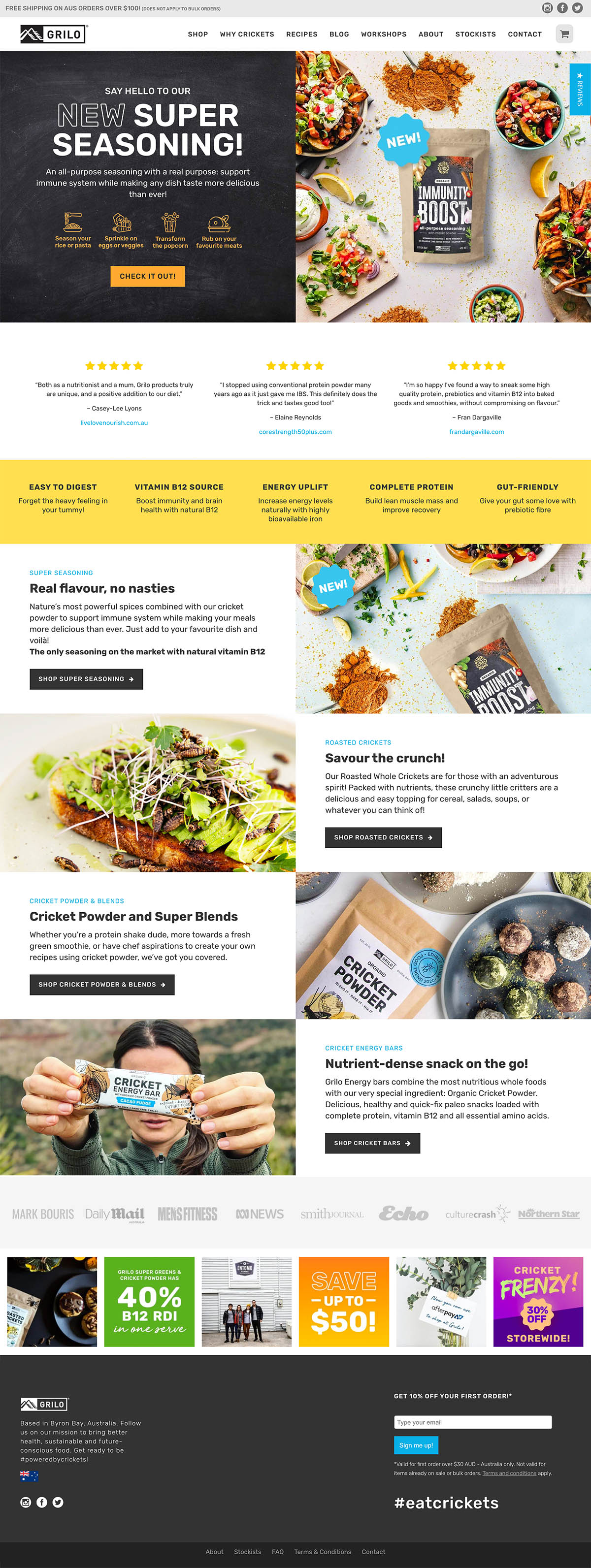 Grilo Protein Ecommerce Wordpress Web Design
