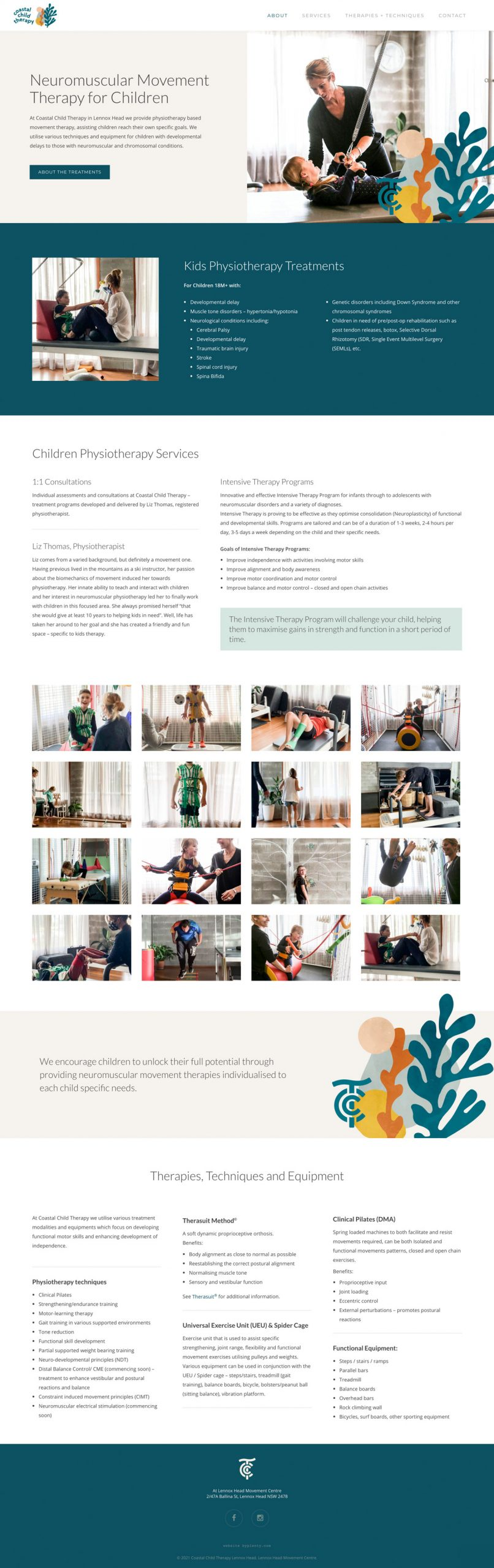 Costal Child Therapy Website Design